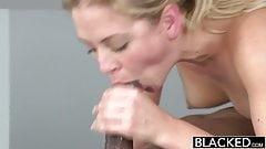 BLACKED Hot Blonde Cherie Deville Takes Big Black Cock